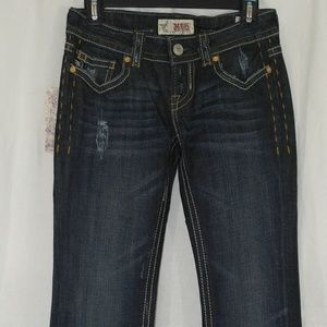 MEK Oaxaca Bootcut Jeans in Dark Blue Wash Size 24